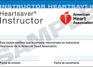Heartsaver® Instructor Card (3-Card Sheet, Spanish)