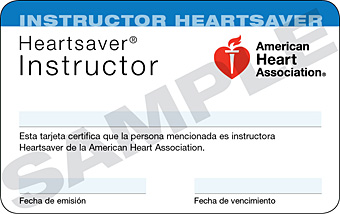 Heartsaver® Instructor Card (3-Card Sheet, Spanish) 1